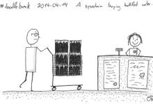 A sysadmin buying bottled water