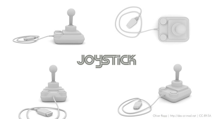 Competition Pro Joystick: Clay Rendering