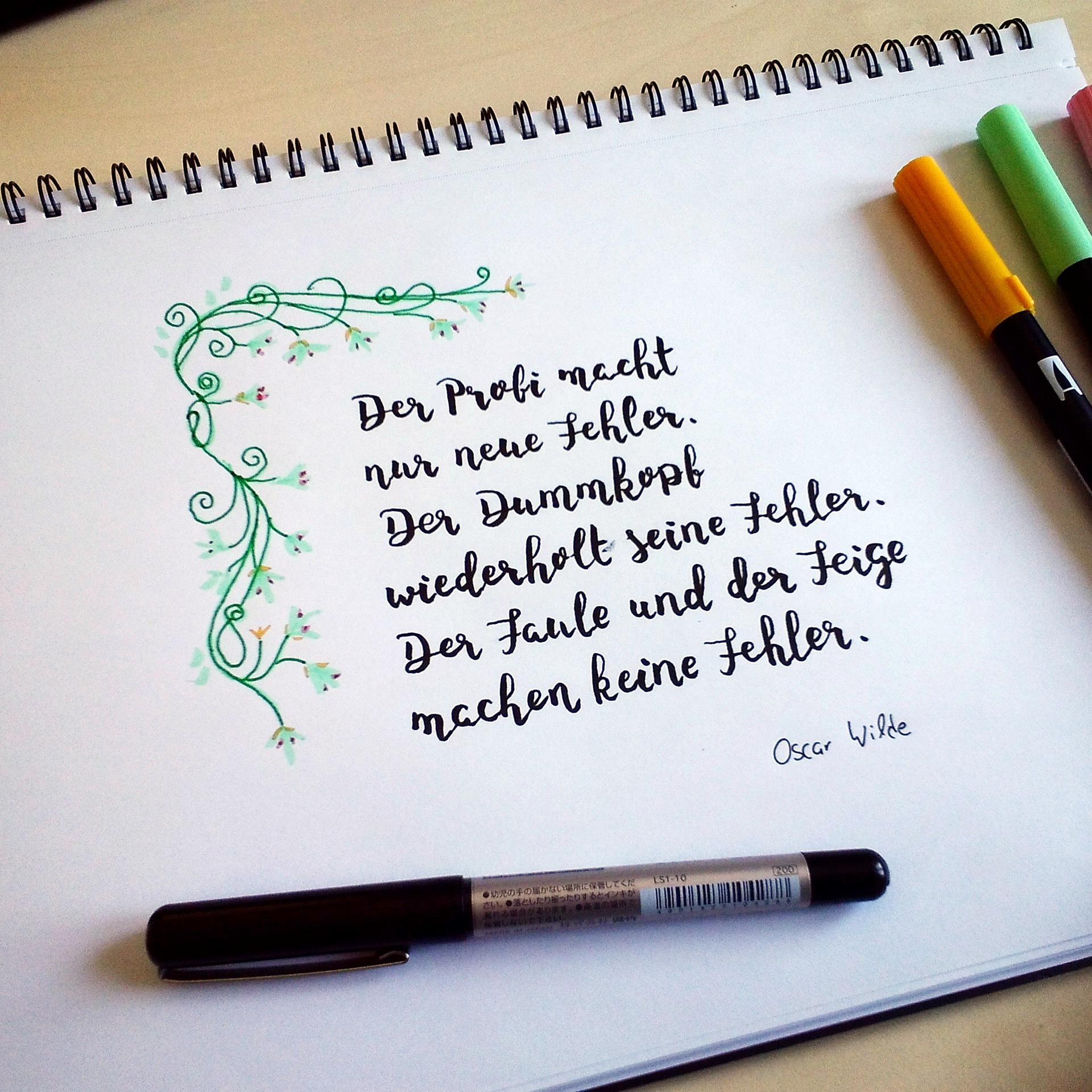 Lettering: 5 Zitate zum Thema Scheitern | des OR mad (by Oliver Rapp)