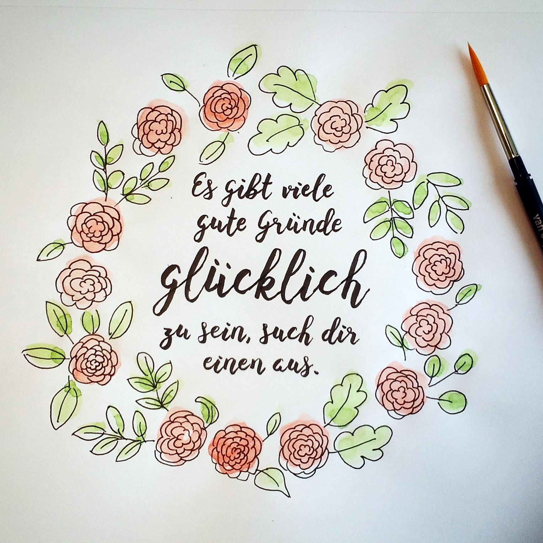 Lettering: 5 Sprüche, die glücklich machen | des OR mad (by Oliver